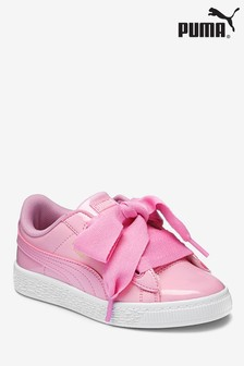 Puma® Basket Heart Patent Youth Trainer