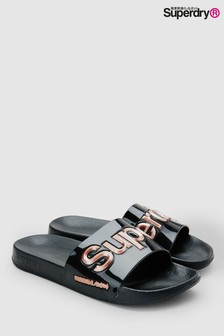 Superdry Black Jelly Slider