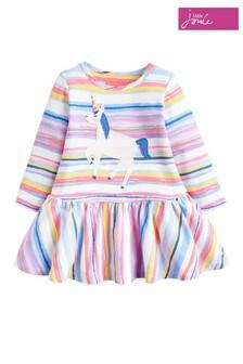 Joules Pink Matilda Unicorn Jersey Appliqué Dress