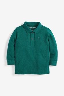 Long Sleeve Textured Poloshirt (3mths-7yrs)