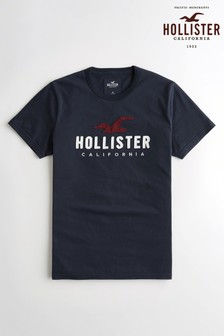 Hollister Navy Short Sleeve Icon Tee