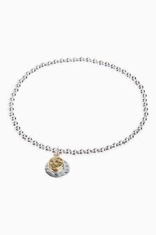 Mixed Metal Charm Beady Bracelet