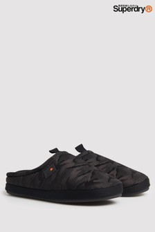 Superdry Black Mule Slippers