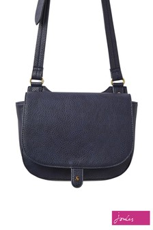 Joules Blue Kelby Bright Cross Body Saddle Bag