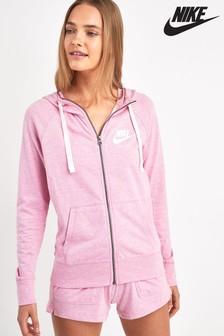 Nike Pink Gym Vintage Hoody