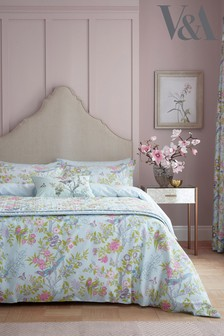 V&A Chinese Bluebird Duvet Cover and Pillowcase Set