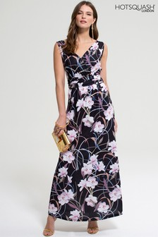 HotSquash Occasion Print V-Neck Maxi Dress
