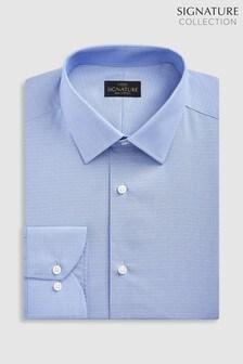 Текстурированная рубашка зауженного кроя с одинарными манжетами Signature