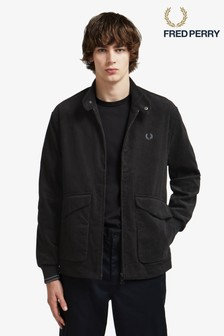 Fred Perry Black Cord Harrington Jacket
