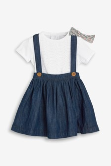 Skirt, Broderie T-Shirt And Headband Three Piece Set (3mths-7yrs)