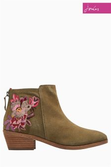 Joules Green Floral Langham Boot