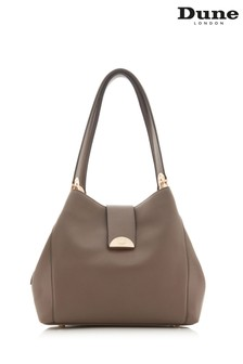 Dune Accessories Grey Large Semi Circle Slouch Day Bag