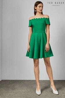 Ted Baker Green Skirt Dress