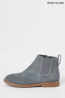 River Island Grey Chelsea Boot
