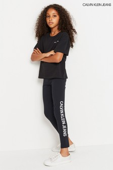 Calvin Klein Jeans Black Logo Leggings