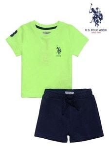 U.S. Polo Assn Green Player Short Set