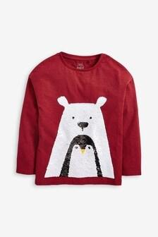 Flitrové tričko s vianočným motívom (3 – 16 rok.)