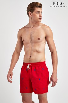 Polo Ralph Lauren Red Pony Print Swim Short