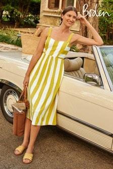 Boden Yellow Lucy Jersey Stripe Dress