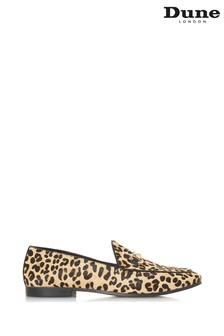 Dune London Leopard Print Metal Trim Loafer