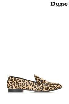 Dune London Loafer mit Metallbesatz im Leopardenmuster