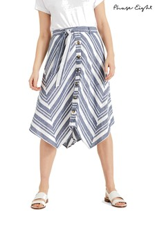 Phase Eight Blue Maggiore Cutabout Stripe Skirt