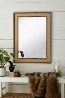 Linen Border Mirror