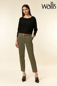 Wallis Green Cigarette Belted Trouser