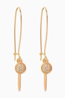 Sparkle Disc Delicate Drop Earrings