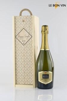 Le Bon Vin Happy Couple Wedding Gift Box With Prosecco