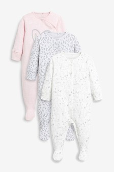 標語連身睡衣三件組 (0個月至2歲)