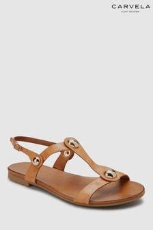 Carvela Comfort Saz Sandalen aus Leder, Mittelbraun