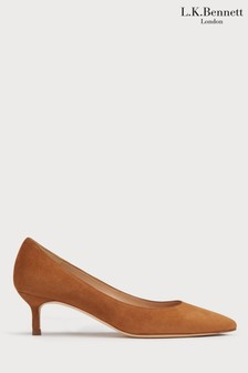 L.K. Bennett Brown Audrey Court Shoes