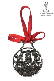 English Pewter Company Snowmen Christmas Decoration