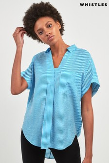Whistles Leona Mix And Match Stripe Shirt