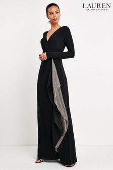 Lauren Ralph Lauren® Black Jessamyn Ruffle Dress
