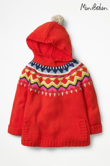 Boden Red Cosy Knitted Hoody
