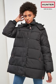 Hunter Womens Original Black Puffa Coat