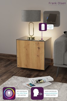 Frank Olsen Smart LED Grey and Oak Lamp Table