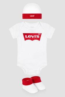 Levis Kidswear Baby White Cotton Set