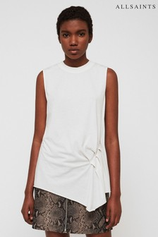 AllSaints White Duma Gathered Top