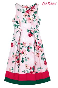 Cath Kidston® Pink Paintbox Flowers Cotton Sateen Dress