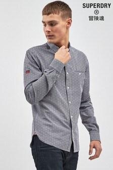 Superdry Navy Long Sleeve Shirt