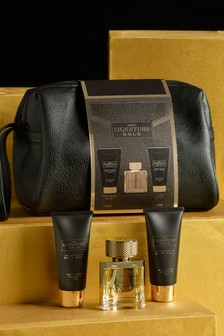 Signature Gold Wash Bag 30ml Gift Set