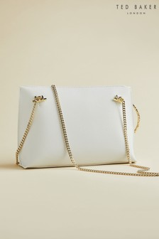 Ted Baker Cream Ingaah Textured Ring Bracelet Clutch