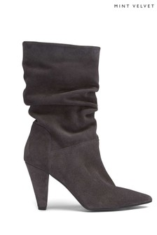 Mint Velvet Grey Harley Suede Slouch Boot
