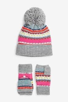 2 Piece Hat And Gloves Set (Older)