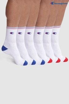 Champion White Socks 6 Pack