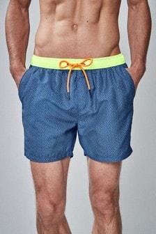 Shorts de bain imprimé géographique