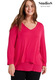 Studio 8 Pink Joy Double Layer Top